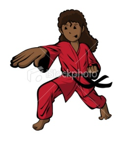 stock-illustration-8932743-girl-doing-karate-chop