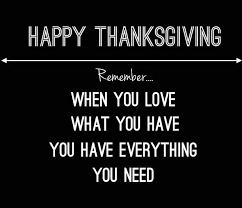 Thanksgivins
