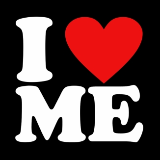 I LOVE ME T SHIRT BLACK